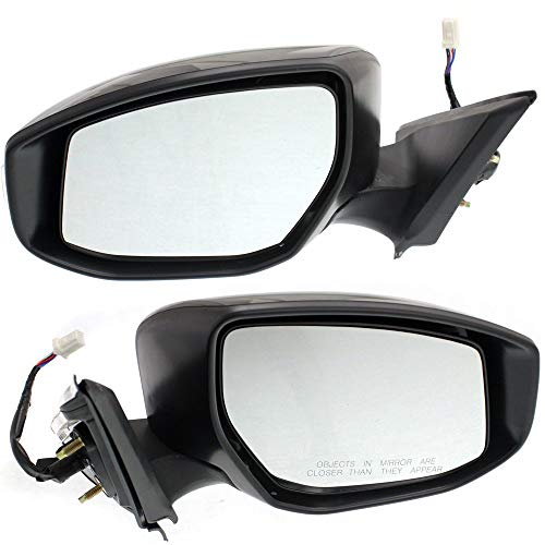 Power Mirror compatible with Nissan Altima 13-18 Right and Left Side Manual Folding Heated W/Signal Light Sedan Paintable