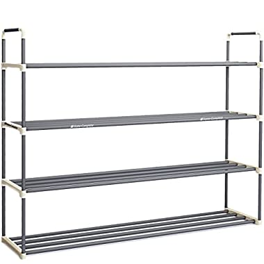 Best 24 Pairs Shoe Rack Organizer Storage Bench - Organize Your Closet Cabinet or Entryway - Easy to Assemble - No Tools Required