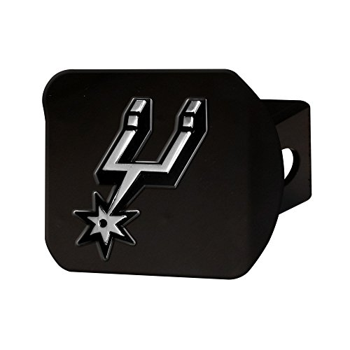 Black Nba Spur - FANMATS 21019 NBA - San Antonio Spurs Black Hitch Cover, Team Color, 3.4