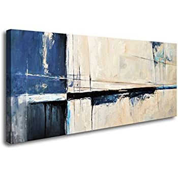 Amazon.com: Wall Art Framed Canvas Prints Abstract color block ...