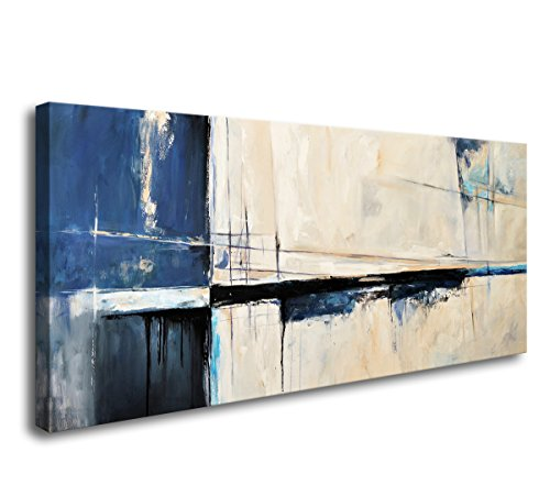 Wall Art Framed Canvas Prints Abstract Color Block Stretched and Framed Canvas Paintings Ready to Hang for Home Decorations Wall Decor A60350