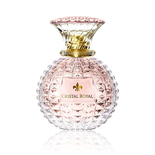 (Cristal Royal Rose by Princesse Marina de Bourbon | Eau de Parfum Spray | Fragrance for Women | Floral and Fruity Scent with Notes of Rose, Lemon, and Pear | 30 mL / 1 fl oz)