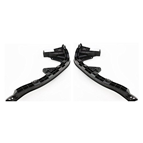 Bumper Bracket compatible with Honda Insight 10 Front Right and Left Side Set of 2 Steel (Honda Insight Parts)