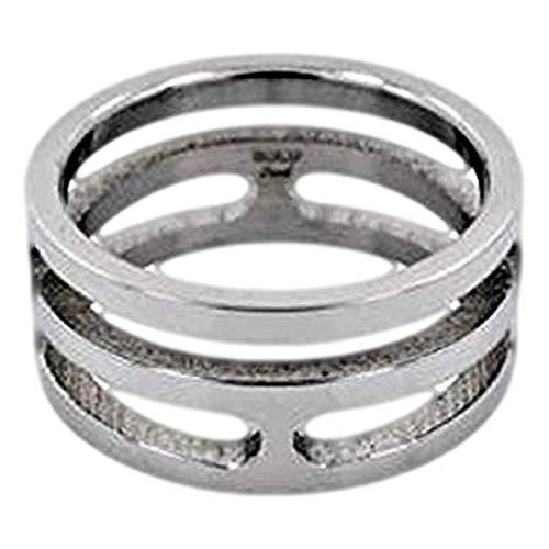 JB Rings Stunning 10mm Carved Design Stainless Steel Ring : Size 9 (Steel Design Ring Tribal Spinner)
