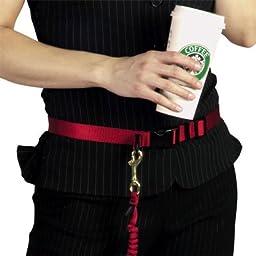 Hands-Free Jogging Leash - 8\' - Blue Pet/Dog Leash w/ Waist Belt