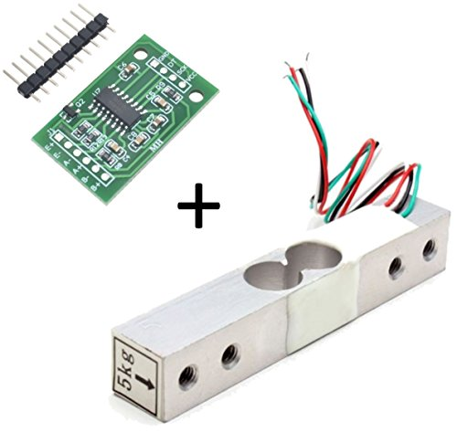 Degraw 5kg Load Cell and HX711 Combo Pack Kit - Load Cell Amplifier ADC Weight Sensor for Arduino Scale - Everything Needed for Accurate Force Measurement - $12.99