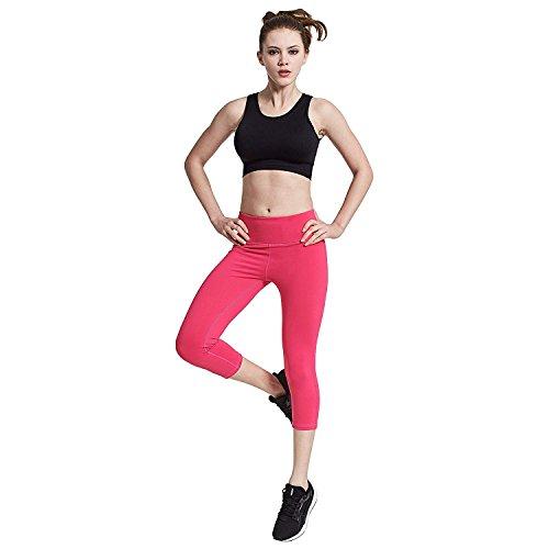 3 Yoga 4 S L Lunghi Length Xl A Donna Allenamento Rosa Pantaloni Compressione Coolomg Da Sport 4 3 M Leggings SqtXqI