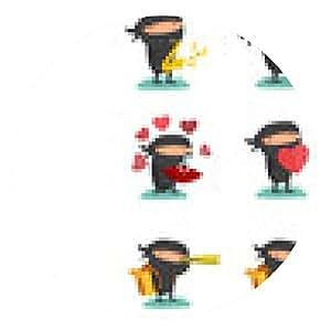 alfombrilla de ratón Ninja de la mascota del Juego 5 - ronda - 20cm