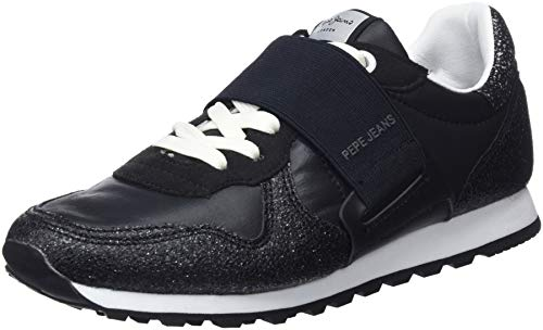 Pepe Elastic black Jeans Donna Verona New Da Ginnastica W 999 Nero Scarpe Basse q1qgIxr6