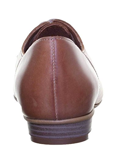Leather Soft Womens Derby Lace Reece Justin EU Tan 41 Heel up Cuban q8SZx4