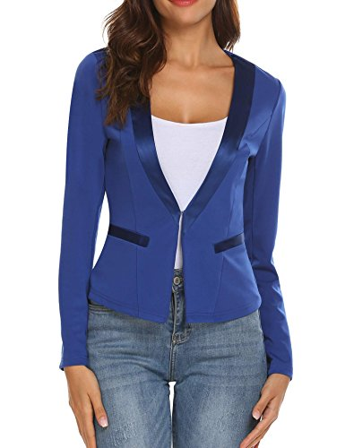 Women's Slim Business Blazer Blue - 1