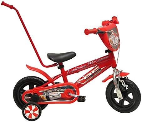 Disney Cars Bicicleta para Niño, rojo, tamaño 10
