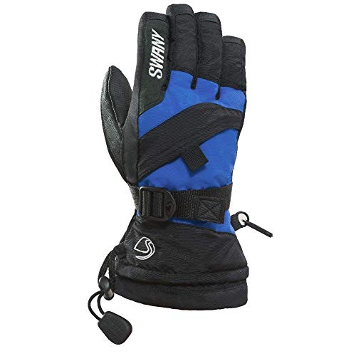 Swany X-Over Junior Gloves, Black/Royal, Large