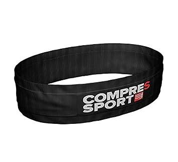 Compressport Cinturón para Correr Free Belt S, para Adultos, Negro, XS/S