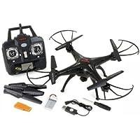 Syma #X5SCBK Syma X5SC 2.4Ghz explorers Headless Mode 6 Axis 4CH RC Quadcopter RTF 2MP Camera 2 x Battery Black