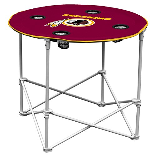 Washington Redskins Garden (Logo Brands Washington Redskins Collapsible Round Table with 4 Cup Holders and Carry Bag)