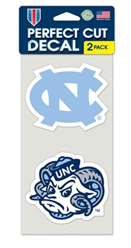 NCAA University of North Carolina Perfect Cut Decal (Set of 2), 4