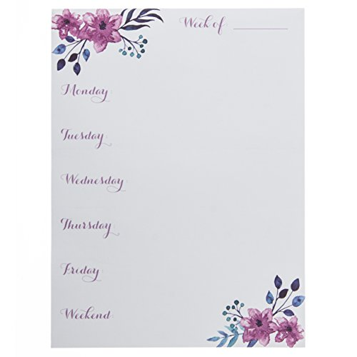- Graphique Purple Watercolor Large Notepad, Weekly Planning Notepad with 150 Tear-Off Sheets and Purple Springtime Bellflower Design, Perfect for Kitchen Counters, Nightstands, Desks, and More, 6