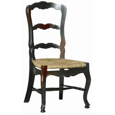- Furniture Classics French Country Ladderback Side Chair [Set of 2] Finish: Ebony Wash-Black Paint/Walnut