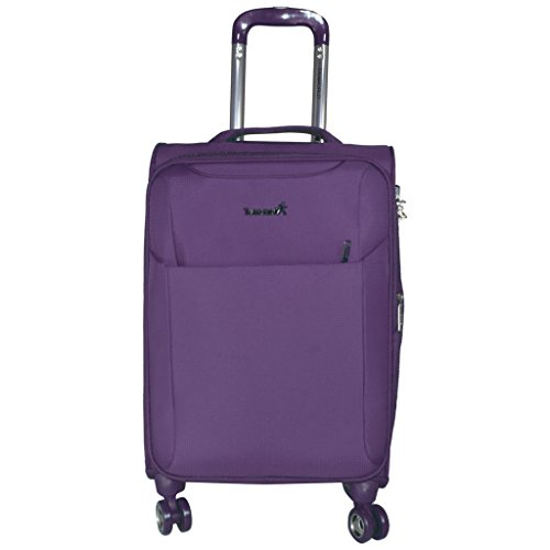 Traworld Jupiter 1004 24 inch 4Wheel Trolley Bag   Purple