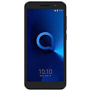 "Alcatel 1 (16GB) 5.0"" Full View Display, Removable Battery, FM Radio, Dual SIM GSM Unlocked US & Global 4G LTE International Version 5033E (Bluish Black)"
