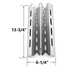 Stainless Steel Heat Plate Replacement for select Broil King 9865-24, 9865-27, 9865-54, 9865-57, 9865-74, 9865-77, 986784, 986784c, 986787, 986787c, 9869-84r, 9869-87r, Broil-Mate, Huntington and Sterling Gas Grill Models