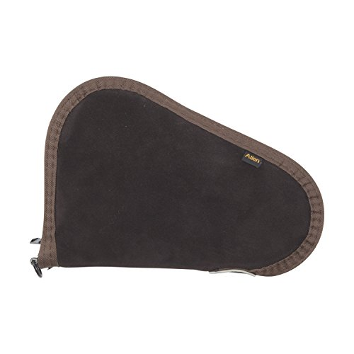 Allen Suede Handgun Case, Brown (8 Gun Case Inch)
