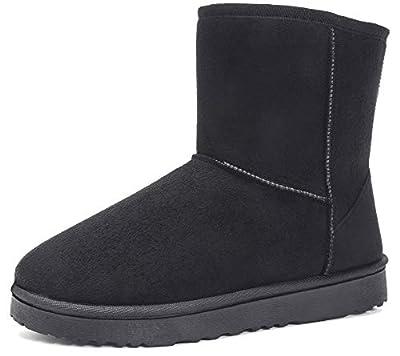 MOERDENG Women's Ankle Boot Winter Outdoor Slip On Warm Snow Boots