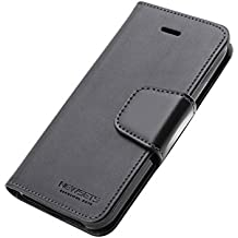 iPhone 5s Case, Sonata Diary [ Wallet Type ] Newsets [ Drop Protection ] Premium PU Leather Case [ ID Credit Card Slots & Cash Slot ] Stand Flip Cover for Apple iPhone 5/5s/5se - Black