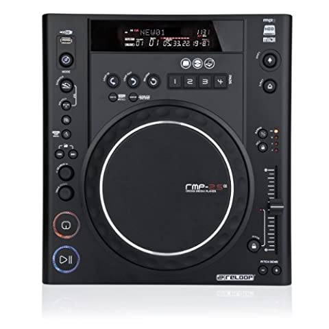 Reloop RMP-2.5 Alpha Table Top Scratch CD Player with MIDI Functions, Black (RMP-2-5-ALPHA) (Media Player Midi Control)