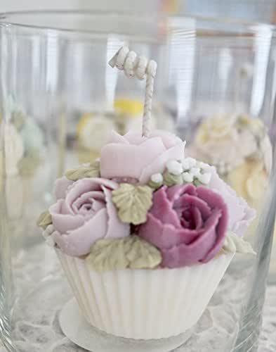 Pink Sprinkles Handmade Natural Soy Cupcake Candles or Custom Order 6oz