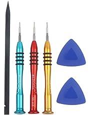 6 st reparationsverktygskit, 1,2 mm P5 Pentalobe T5 Torx PH000 precisionsskruvmejsel set med bäggöppningsverktyg för MacBook Air och Pro Retina