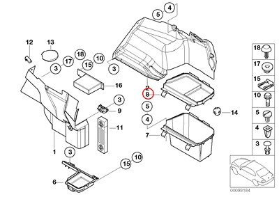 bmw-genuine-lateral-trunk-floor-trim-panel-battery-luggage-compartment-cover-320i-323ci-323i-325ci-3
