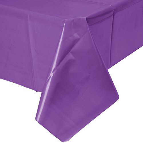 (Creative Converting 318940 Festive Amethyst Wedding Birthday Party Tableware Plastic Table Cover Tablecover, 54