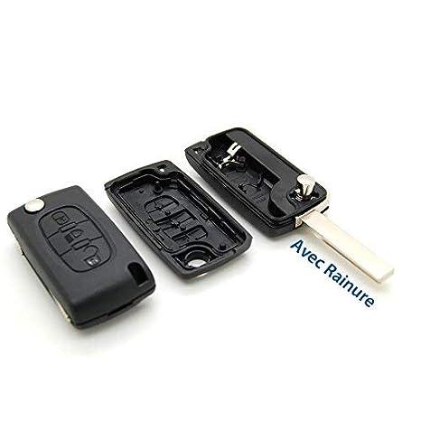 Carcasa llave Jongo mando a distancia Botón Faro CITROEN C4 Picasso con ranura
