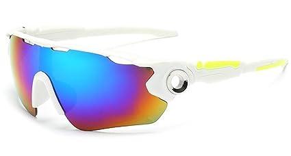 Flydo Gafas de Sol Deportivas, Unisex Gafas de Sol Deportivas Polarizadas de Cambios Antivaho Antireflejo
