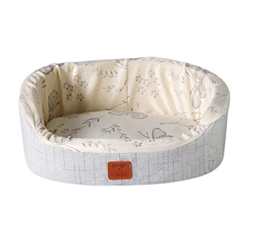 (ALLNEO Couture Orthopedic Cradle Pet Bed for Dogs & Cats Round Indoor Pet Bed Cuddler Premier Hideout Plush Bed for Dogs & Cats)