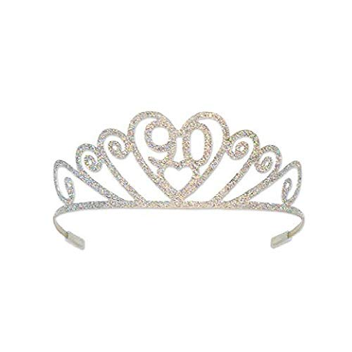 Bargain World Glittered Metal 90 Tiara (with Sticky Notes)