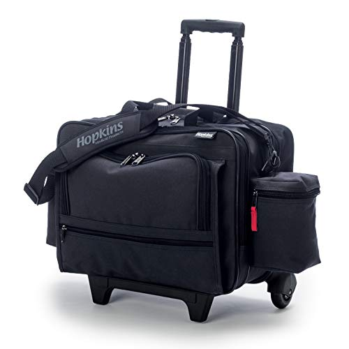 Hopkins Medical Products Rolling Medical Bag for Home Health Nurses - Black