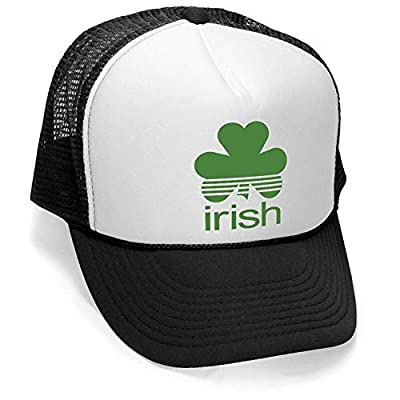 Megashirtz - Irish - Vintage Style Trucker Hat Retro Mesh Cap
