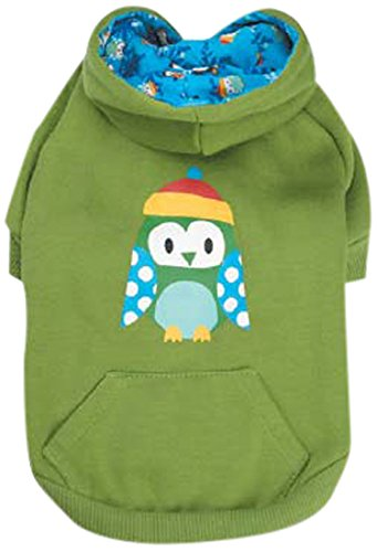 Casual Canine Polyester/Cotton North Pole Pals Dog Hoodie, XX-Small, Owl