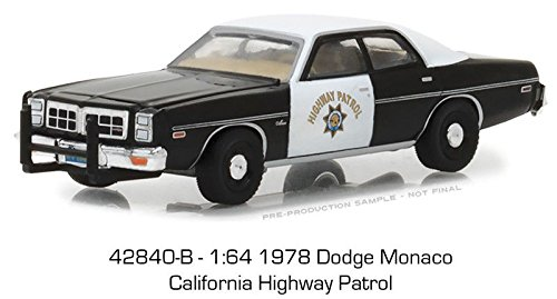 BRAND NEW DIECAST 1:64 HOT PURSUIT SERIES 27-1978 DODGE MONACO - CALIFORNIA HIGHWAY PATROL (CHP) 42840-B BY GREENLIGHT