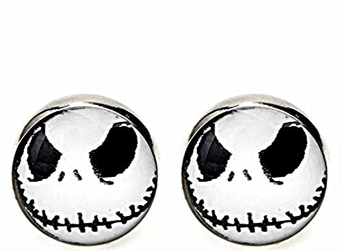 Burton Bubble - Coins_Stamps_and_More One Pair of Skeleton 316L Surgical Stainless Steel 10 mm Stud Earrings