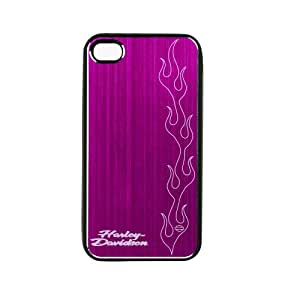 Fuse 7437 Harley Davidson PC Case with Aluminum Coat for iPhone 4/4S - 1 Pack - Retail Packaging - Pink