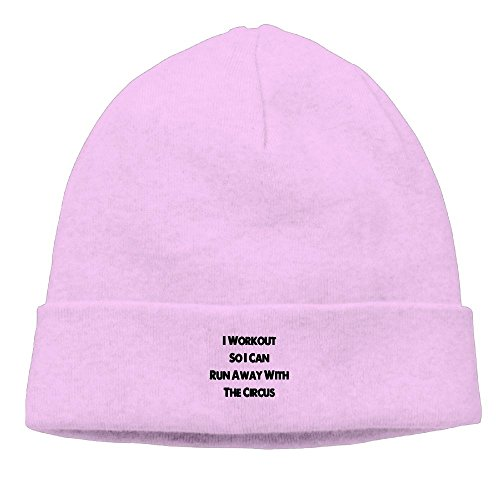 NI ER NI I Workout So I Can Run Away With The Circus New Winter Hats Knitted Twist Cap Thick Beanie Hat Pink (Beanie Runaway)