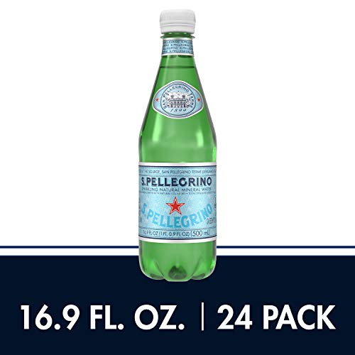 S.Pellegrino Sparkling Natural Mineral Water, 16.9 fl oz. (24 Count)]()