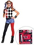 Suicide Squad Harley Quinn Costume Kit Kids Large With Makeup
