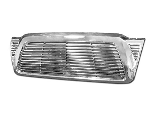 Autobotusa Chrome Horizontal Billet Style Front Hood Bumper Grill Grille Cover for 2005-2011 Toyota Tacoma -