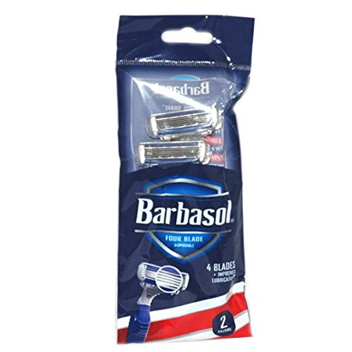 Barbasol 4 Blade Razor for Men 2ct, Case of 72