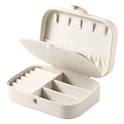 Casegrace Jewelry Box For Women Travel Jewelry Organizer Double Layer for Necklace Earring Rings Jewelry Holder Case